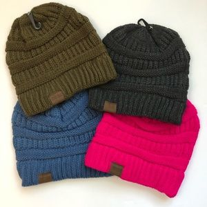 30% OFF 2/MORE Acrylic Knit Beanie Hat Pick Color
